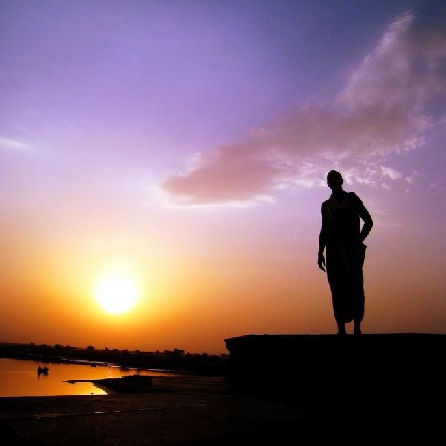 sunset monk